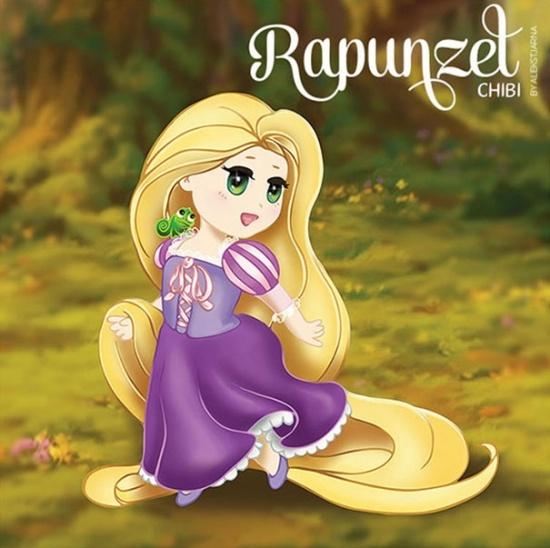 princess Rapunzel chibi công chúa tóc mây