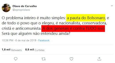 Twitter de Olavo