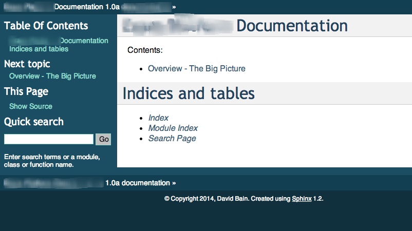 David Bain's Blog: Continuous Documentation with Sphinx +
