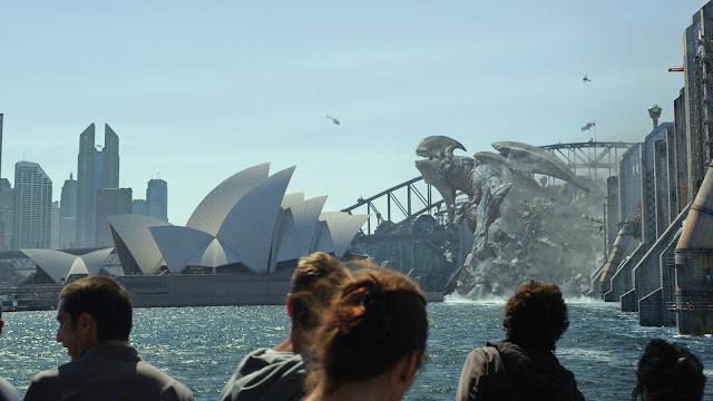 Un kaiju atacando en Sidney