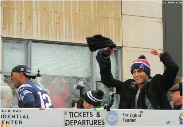 Celebración de la Super Bowl en Boston