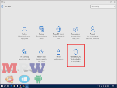 update & security windows 10