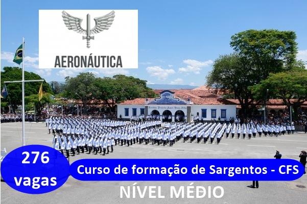 Aeronáutica: FAB abre inscrições de concurso para 279 vagas no CFS