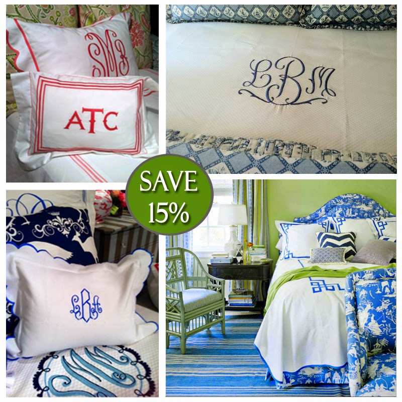 Luxury Bedding, Monogrammed Bedding, Jane Wilner Bedding