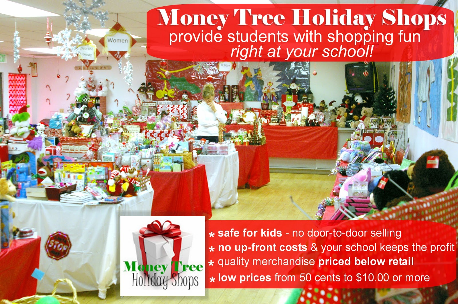 The Money Tree School Holiday Gift Shops In School Holiday Shopping