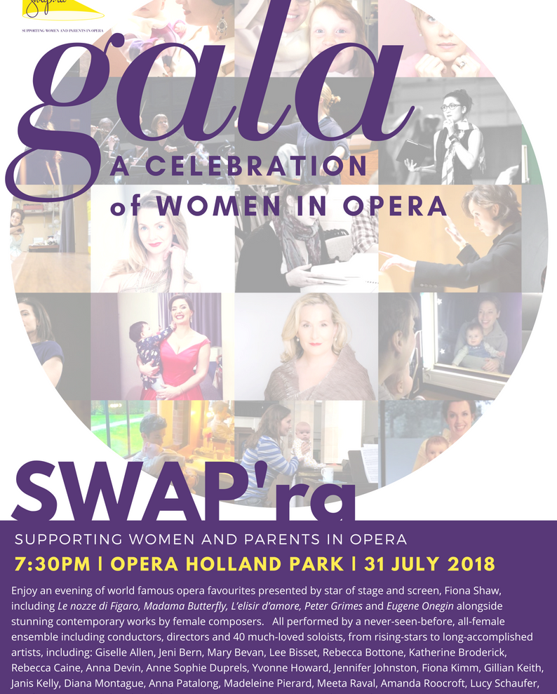 Contemporary works in all-women gala for SWAP'ra at Opera Holland Park.