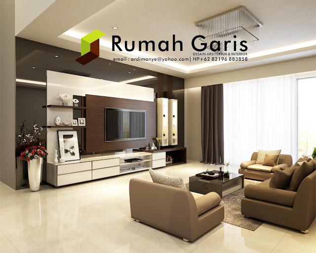 desain interior apartemen rumah garis