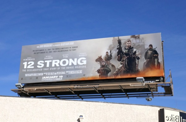12 Strong movie billboard