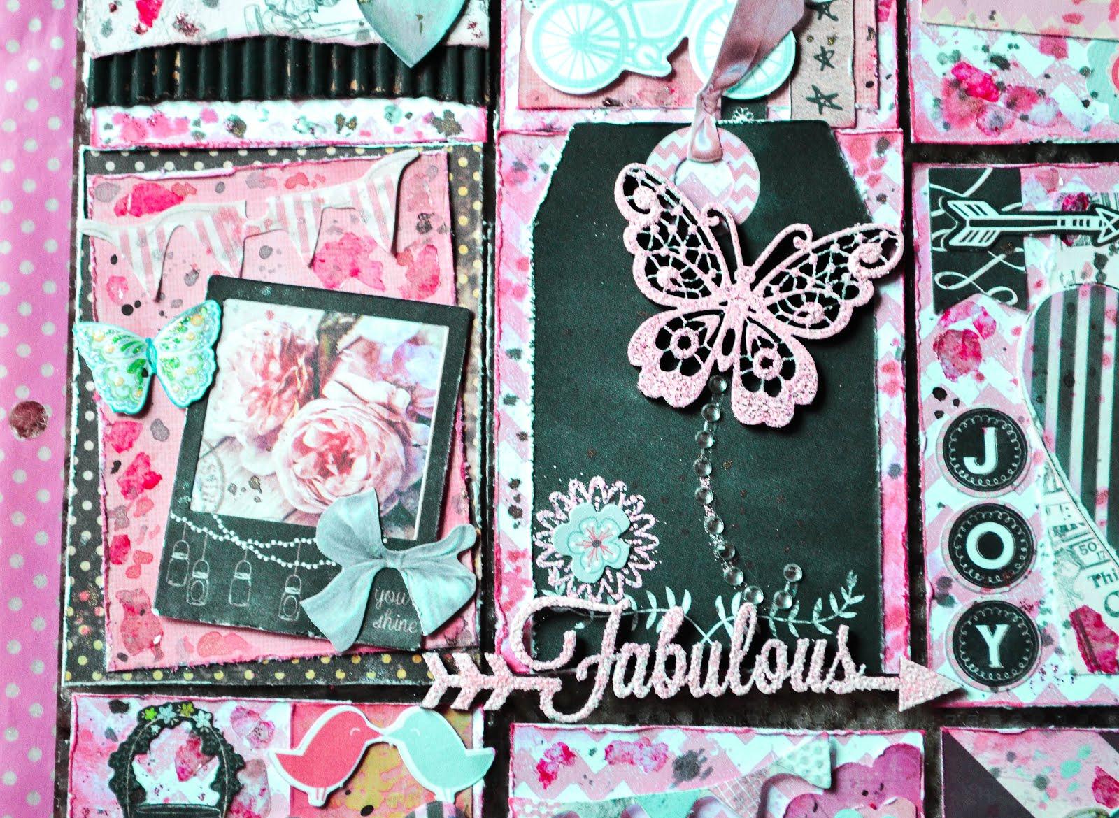 Pink and black pocket letter