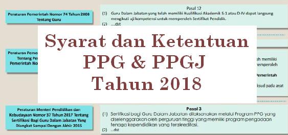 Persyaratan Peserta PPG/PPGJ Dalam Jabatan Tahun 2018
