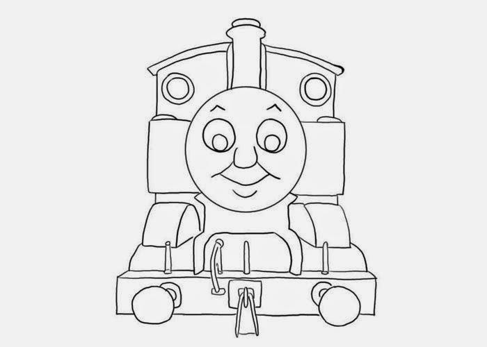 Mewarnai gambar Thomas untuk anak 11