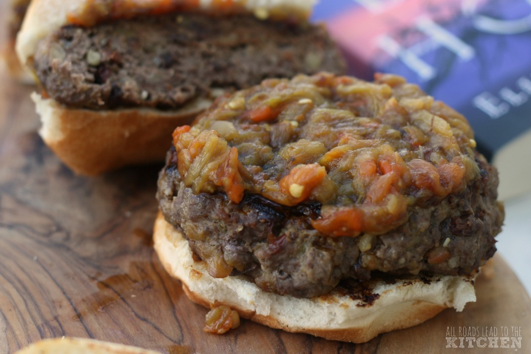 Green Chile Piñon Burgers | In the Blue Hour