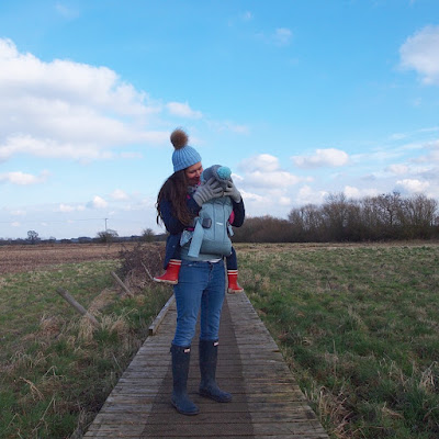 Out for a walk with the Baby Carrier One Air