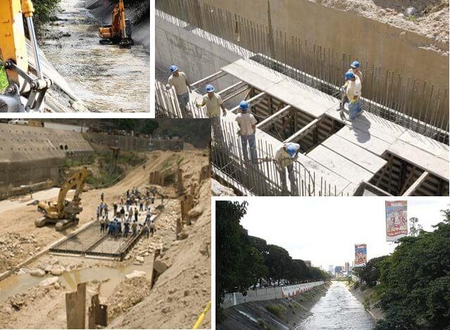 paralizacion de la obra de saneamiento del rio guaire