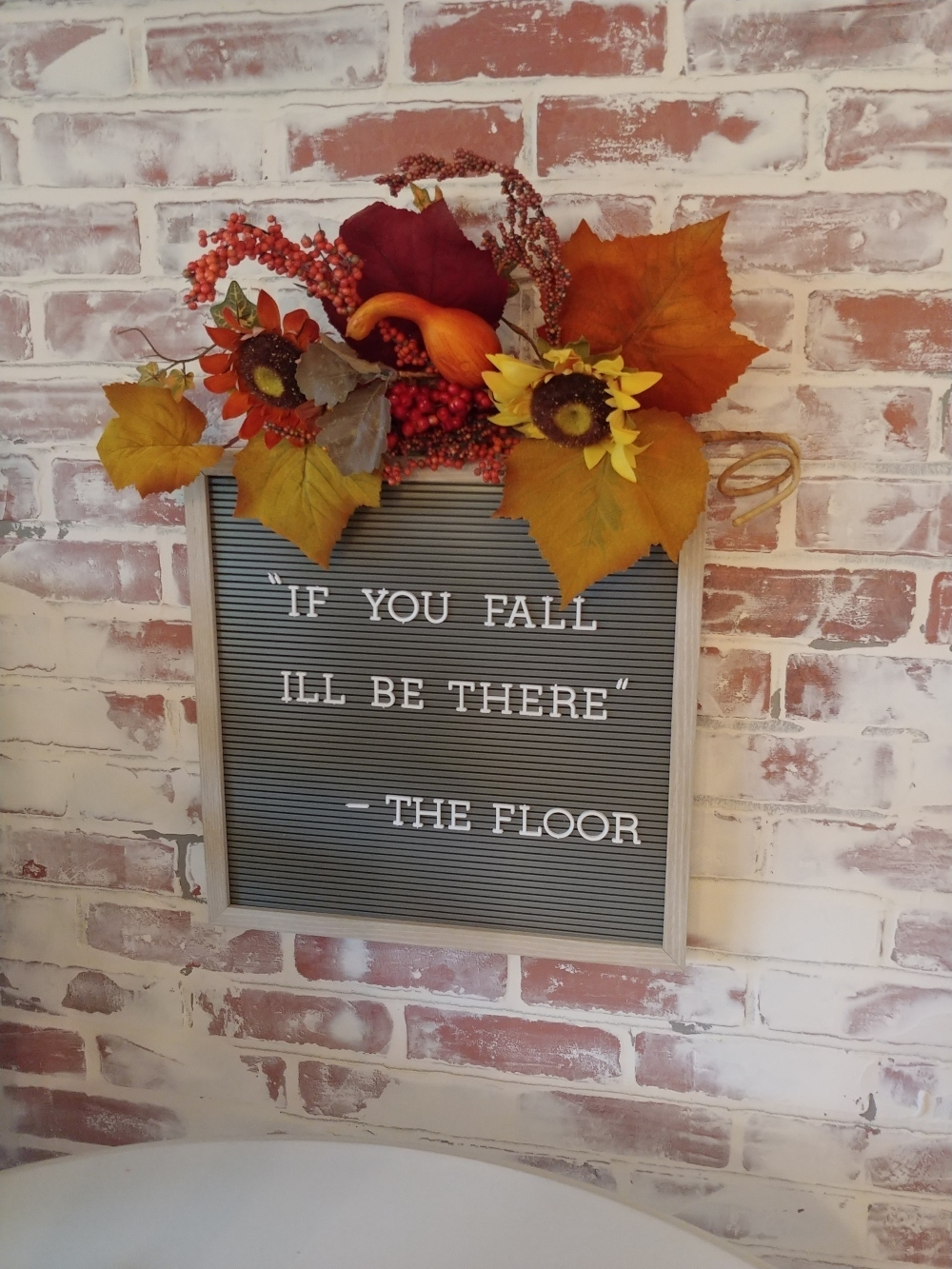 fall letterboard sign