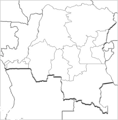 image: Blank white Democratic Republic of the Congo Map
