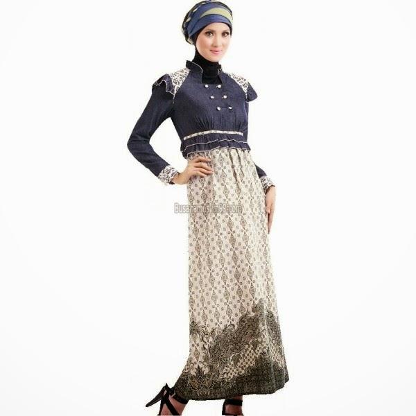 Sketsa Desain Baju Batik Muslim Wanita Terbaru: Model Baju Muslim Batik Terbaru Untuk Wanita