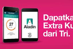 Cara Mendapatkan Kuota Tri Gratis Dengan Aplikasi Aladin