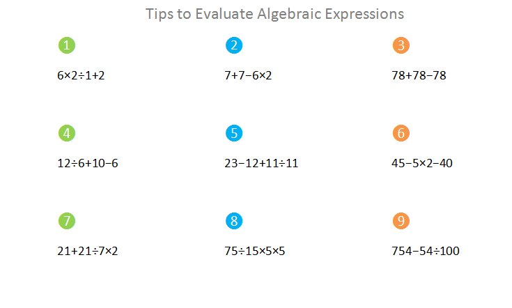 Bro and Sis Math Club: Tips to Evaluate Algebraic Expression