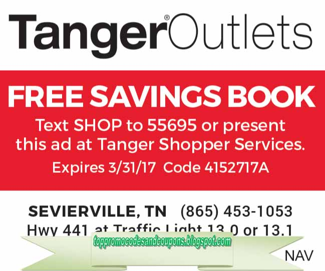 Free Promo Codes and Coupons 2019: Tanger Outlet Coupons