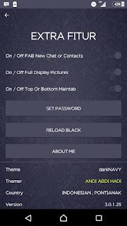 BBM Dark Navy V3.0.1.25 Apk - BBM MOD Android Navy Version
