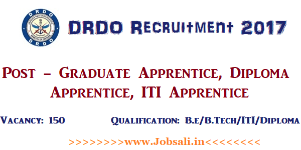 DRDO Apprentice Recruitment 2017, Apprenticeship Jobs, ITI Jobs