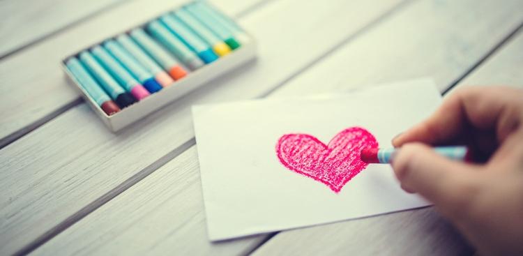 heart pastels