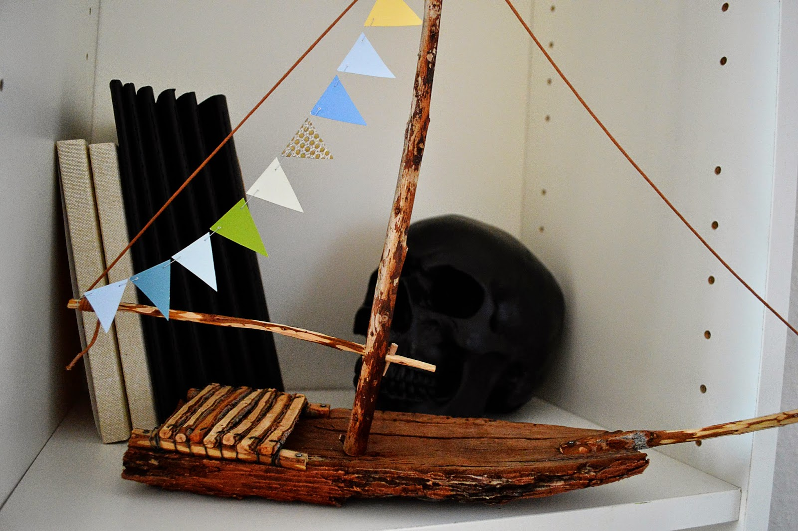 DIY Wooden Boat DIY Paper Bunting | Motte's Blog