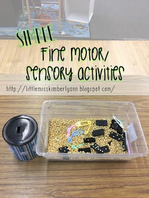 Simple fine motor/ sensory activities for special education