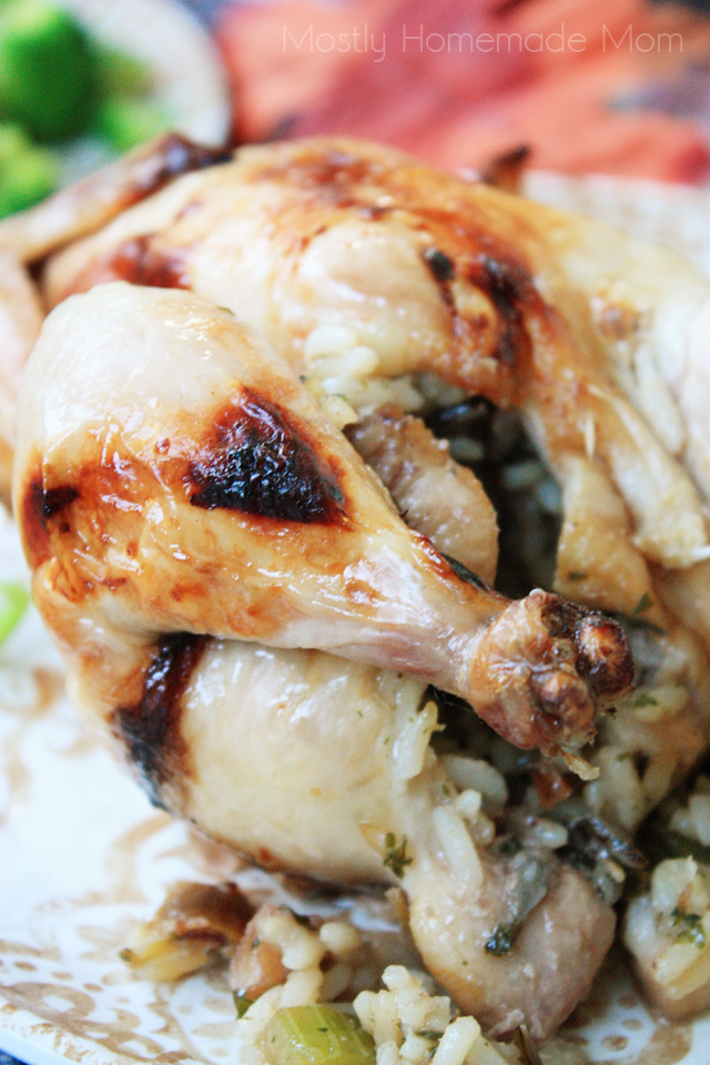 Cooking Cornish Hens with Fruit Stuffing