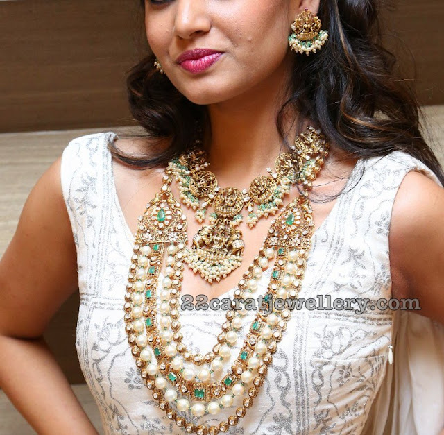 Model in Lakshmi Necklace by Kalasha Jewels