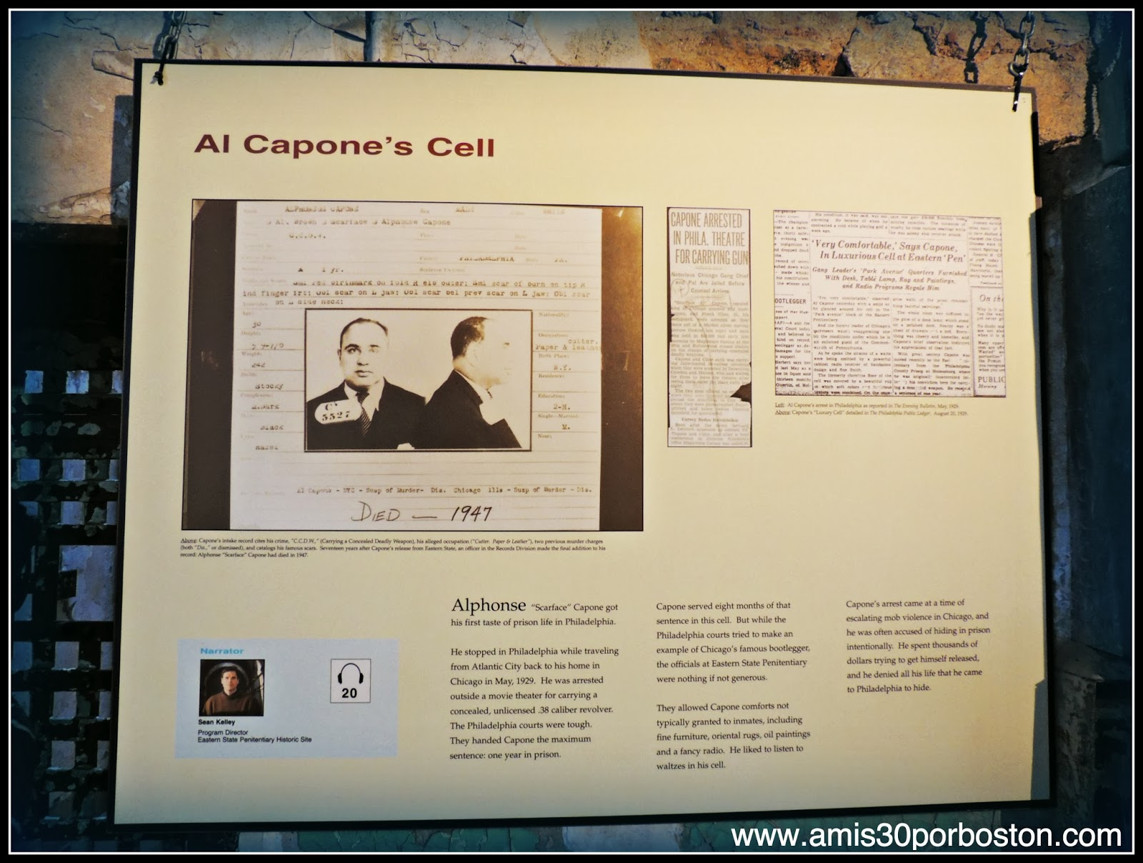 Celda de Al Capone