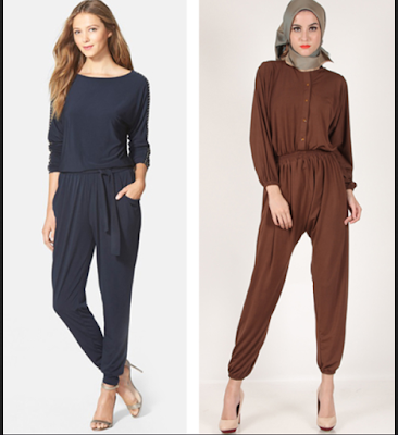 Model Baju Jumpsuit Lengan Panjang
