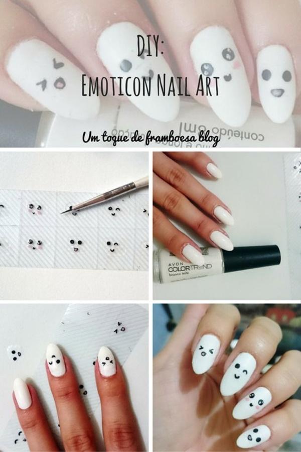 Como fazer adesivos de unhas com desenho de emoticons