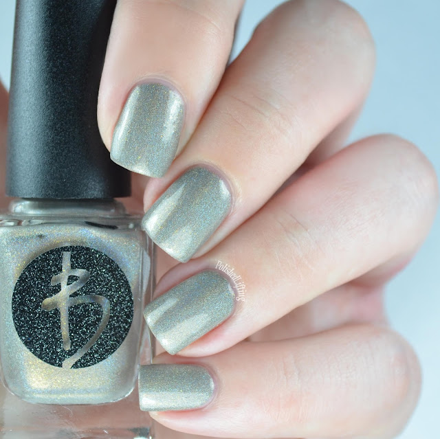 gray holo nail polish