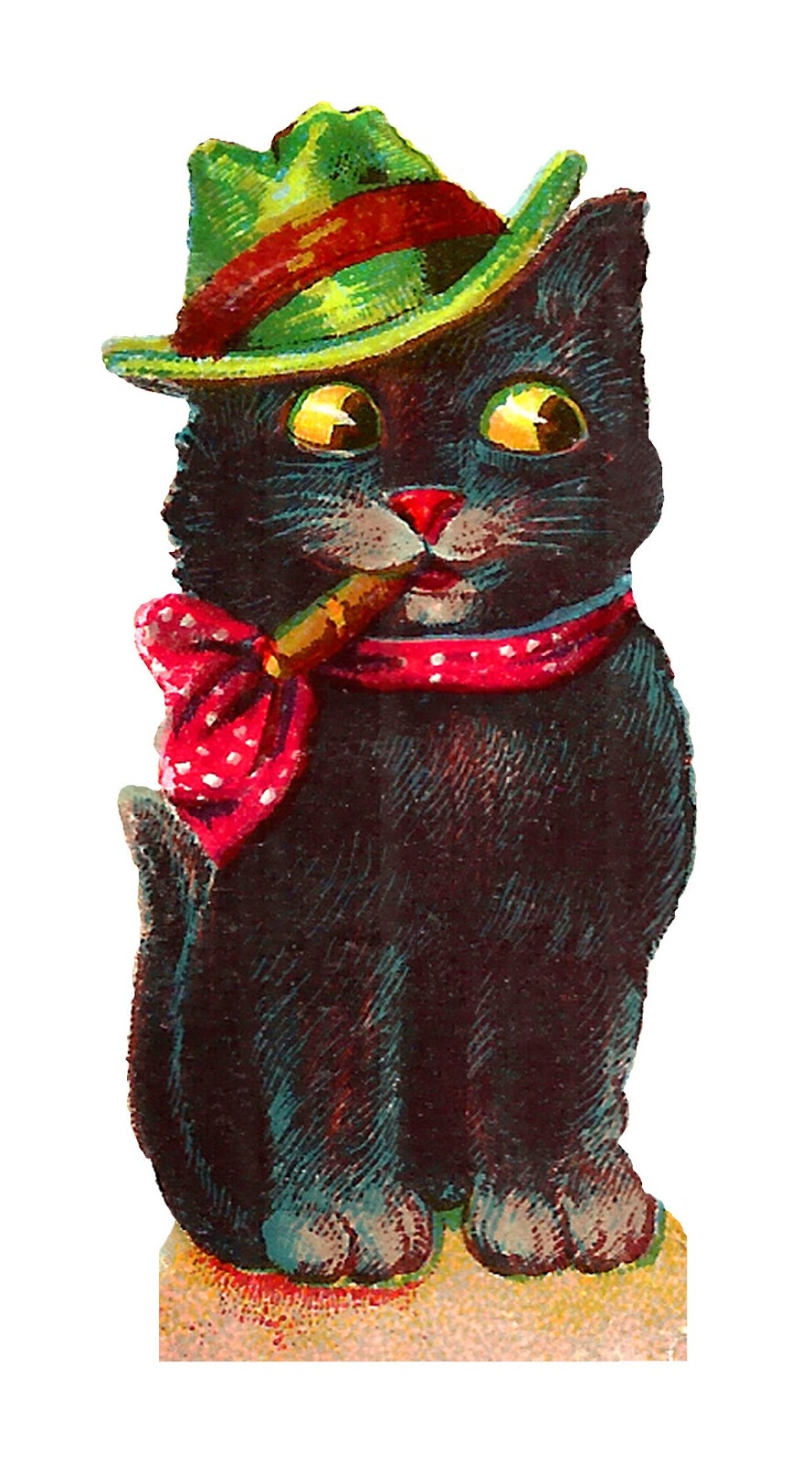 Antique Images: Vintage Halloween Black Cat Images Costumes ...