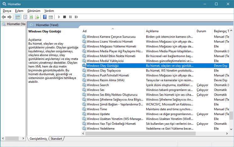 Windows olay günlüğü-www.ceofix.com