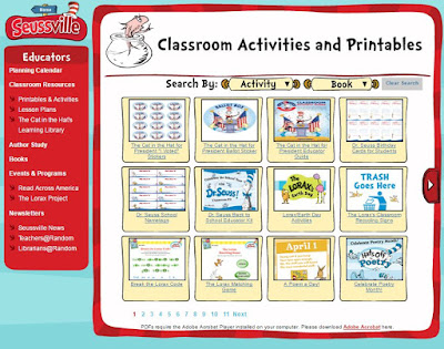 free Dr. Seuss activities and printables