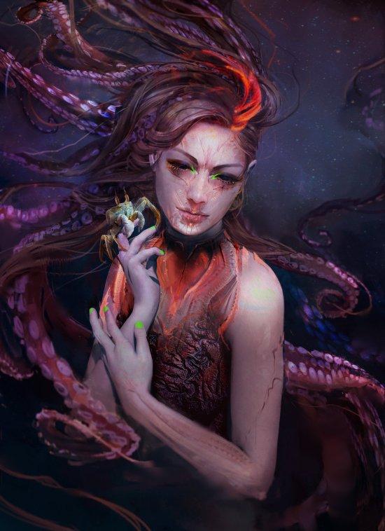 Magdalena Radziej deviantart artstation ilustrações fantasia ficção científica mulheres games