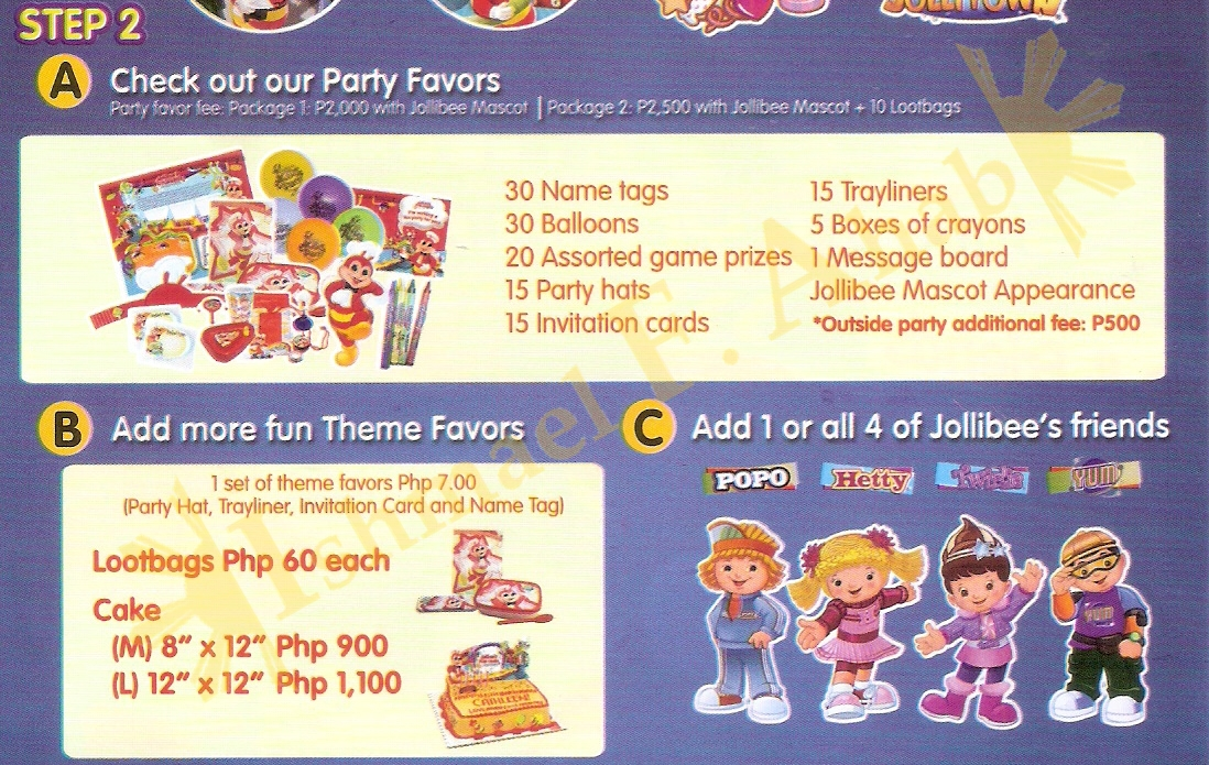 The pinoy informer jollibee birthday party package brochure 2017 jollibee birthday party package brochure 2017 stopboris Images