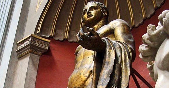 Stock Pictures Male Sculptures In Vatican City Museum