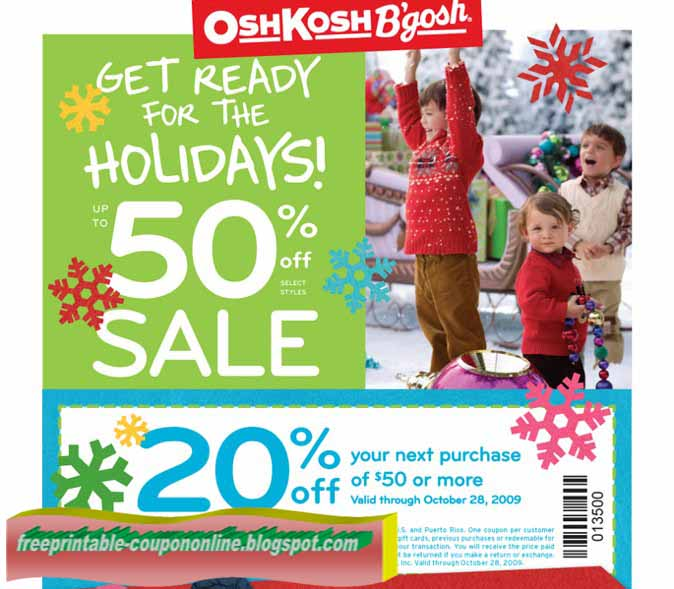 Oshkosh printable coupon october 2018