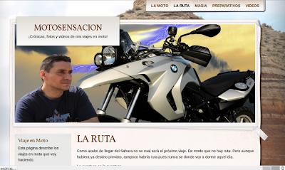 El blog de aventuras en moto, Motosensación