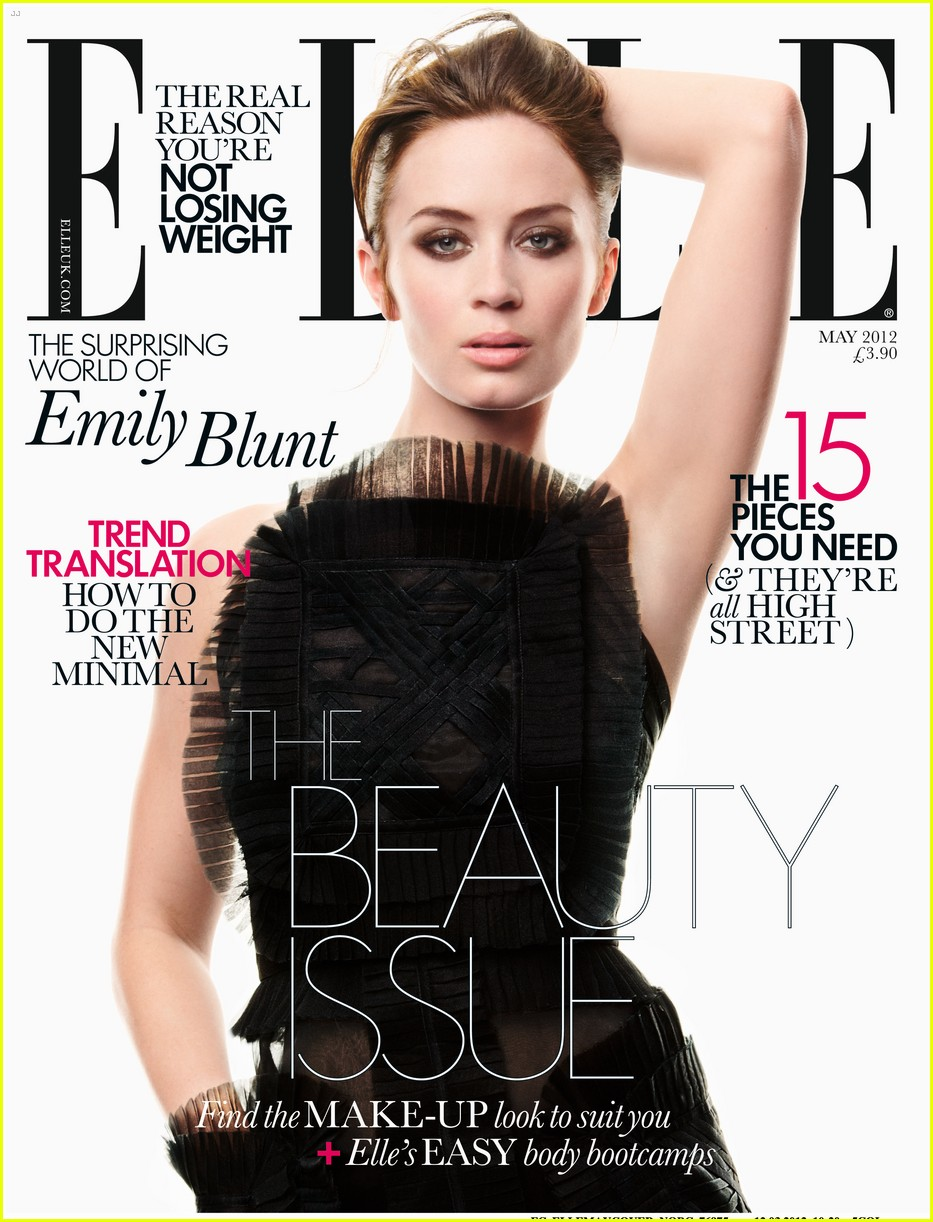 Elle Magazine France February March: You Haven't Seen The Last Of Me: Emily Blunt For Elle Magazine