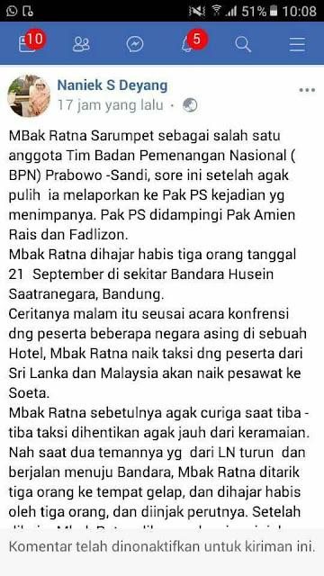 Pengakuan Ratna Sarumpaet Soal Operasi Plastik, Bikin Naniek S Deyang Tak Berkutik, Netizen Bertanya-tanya Kok Statusnya Hilang....
