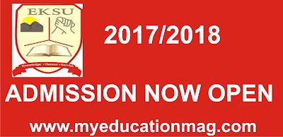 EKSU Part-time Admission Out 2017/2018