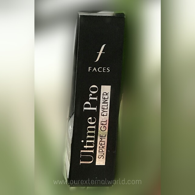FACES Ultime Pro Supreme Gel Eyeliner - Review, Swatch, Price