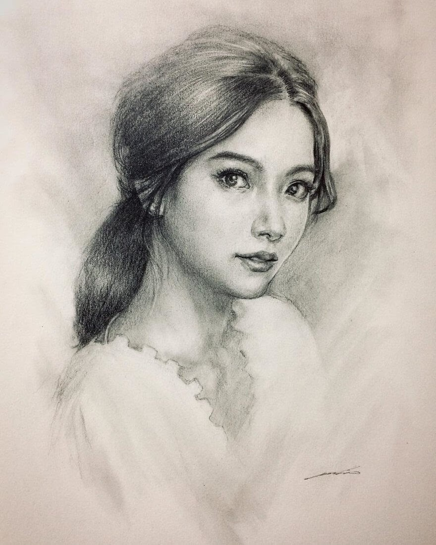 04-@baifernbah-Yoshi-Portrait-Drawings-of-People-on-Instagram-www-designstack-co