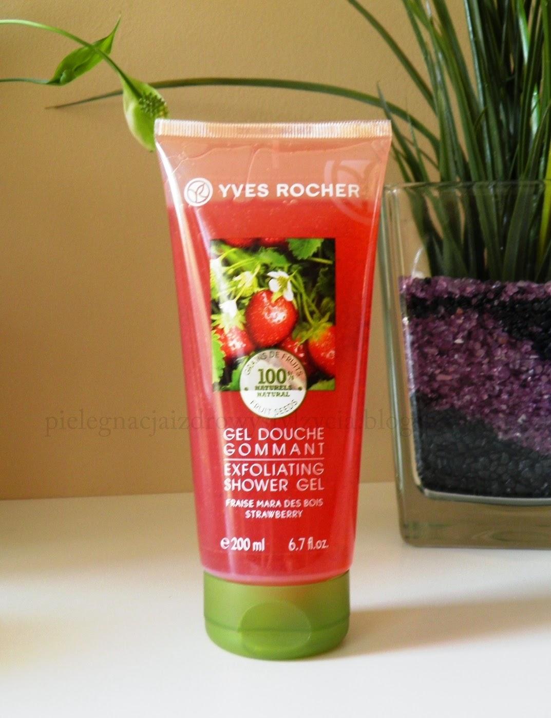 Peelingujący żel pod prysznic truskawka Yves Rocher