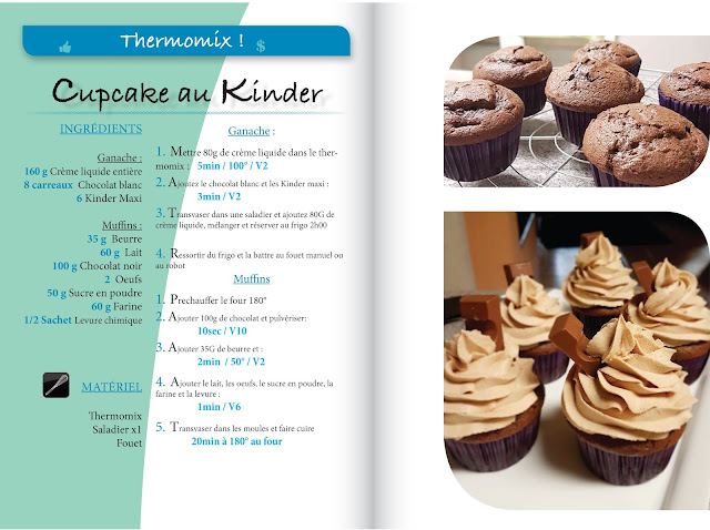 Cupcake kinder maxi glaçage kinder